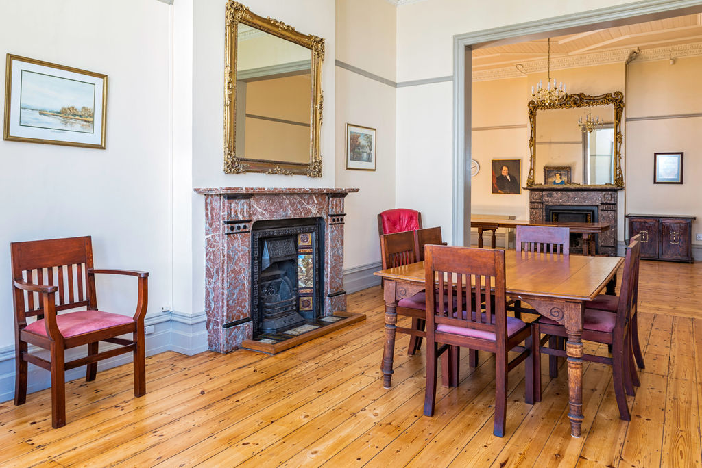 North drawing-room, with dining table